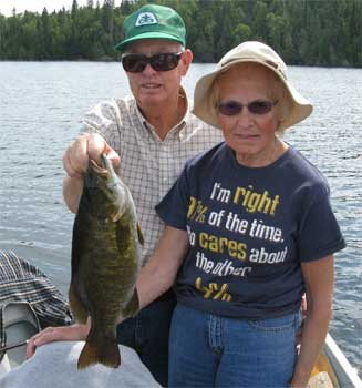 ladies trophy smallmouth fishing in canada