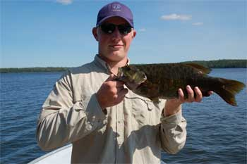 first trophy smallmouth bass catch in canada