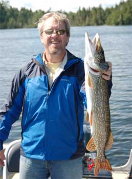 fish for big northern pike in canada at lodges