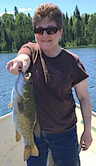 Trophy Smallmouth Bass caught by Janet Fishing at Fireside Lodge