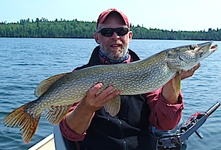 BIG Northern Pike Fishing at Fireside Lodge Canada by Ron Ramsey