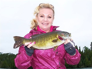 Trophy Bass Fishing is Great at Fireside Lodge Canada by Lisa