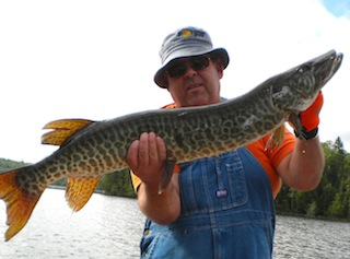 Trophy Muskie Fishing at Fireside Lodge Canada by Jerry