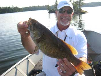 Giant Trophy Smallmouth Bass Fishing at Fireside Lodge Canada
