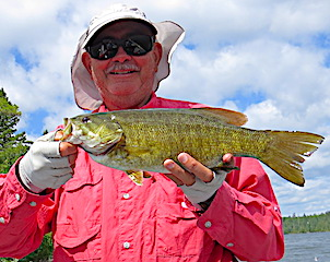 Donn With Another BIG Smallmouth Bass Fishing at Fireside Lodge in Canada