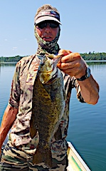 HUGE 20-inch Smallmouth Bass Fishing at Fireside Lodge in Canada