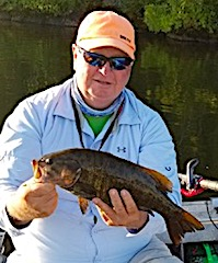 Master Angler Trophy Smallmouth Bass Fishing by Bill