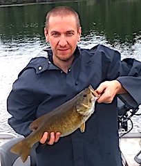 Trophy 19-inch Smallmouth Bass Fishing at Fireside Lodge by Robert