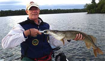 Trolling Fishing Northern Pike in Canada at Fireside Lodge