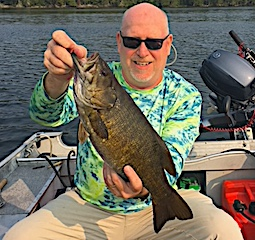 Three Trophy Smallmouth Day Fishing by Mark at Fireside Lodge