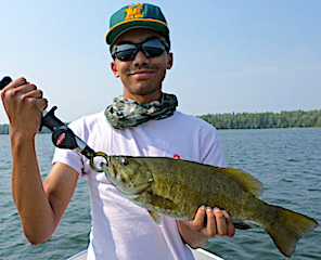 Trophy Smallmouth Bass Fishing by Keeghan at Fireside Lodge in Canada