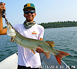 Great Muskie Fishing by Keeghan at Fireside Lodge in Canada