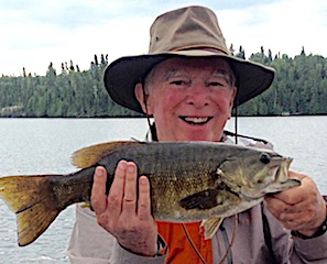 Trophy Smallmouth Bass Fishing by Paul at Fireside Lodge in Canada
