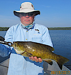 Trophy Smallmouth Bass by Walt Fishing at Fireside Lodge