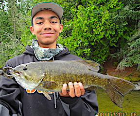 HUGE Trophy Smallmouth Bass Fishing by Keeghan at Fireside Lodge in Canada