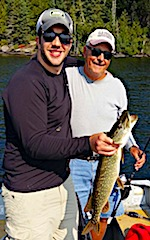 Father and Sons Fishing at Fireside Lodge in Canada for Pike