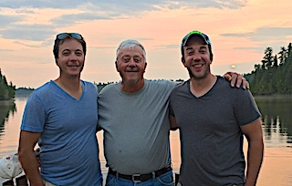 Father and Son Fishing Trip for The Gaddis Family at Fireside Lodge in Canada