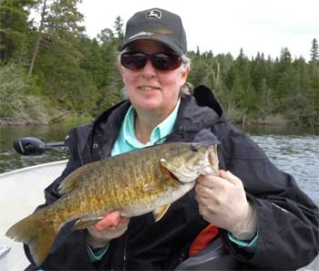 trophy fly-fishing smallmouth bass at canada lodges
