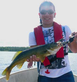 walleye fishing is fun in canada at lodges