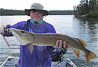 Another BIG Northern Pike by Walt fishing with his Grandson
