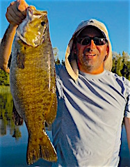 GIANT Trophy Smallmouth Bass Fishing at Fireside Lodge
