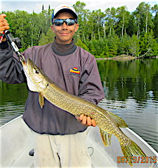 Big Northern Pike by Keeghan Fishing with his Grandpa