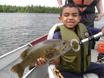 fishing with big smallmouth bass in ontario