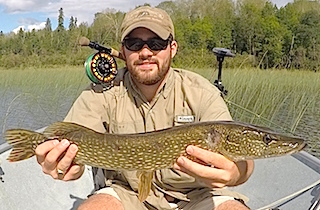 Fly Fishing for Pike at Fireside Lodge is a BLAST by William