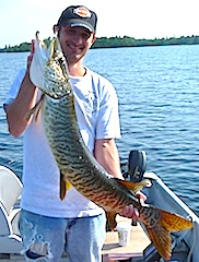40-inch Tiger Musky Fishing at Fireside Lodge Canada
