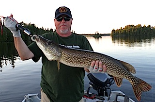Huge Northern Pike Fishing at Fireside Lodge by Walt