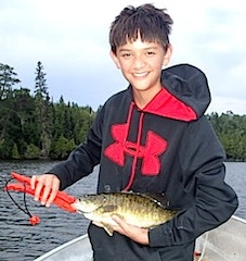 1st BIG Smallmouth Bass Fishing at Fireside Lodge Canada by Nicholas