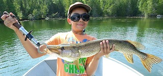Fishing Big Northern Pike in Canada at Fireside Lodge by Keegan