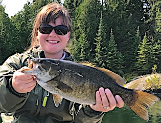 Look at This Trophy Smallmouth Bass Fishing by Crystal at Fireside Lodge in Canada