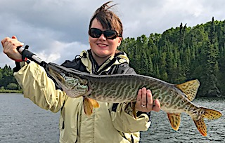 First Muskie Fishing by Dan Held by Crystal Fishing at Fireside Lodge in Canada