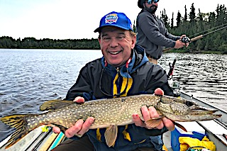 Father Sons Northern Pike Fishing by David at Fireside Lodge in Canada