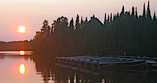 Boat Docks Sunsets at Fireside Lodge in Canada