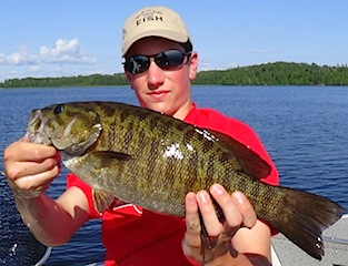 Great BIG Trophy Smallmouth Bass by Jacob Hill