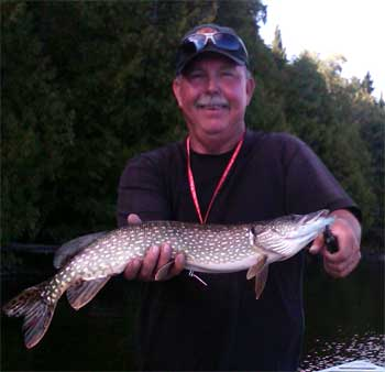 Fabulous lodge fishing for Northern Pike in Canada