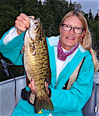 Many BIG Smallmouth Bass Fishing at Fireside Lodge by Marilyn Foos