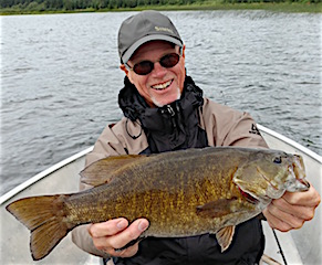 Biggest Smallmouth Bass Ever Fishing at Fireside Lodge by Ed