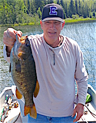 HOG Trophy Smallmouth Bass by Dan Fishing at Fireside Lodge