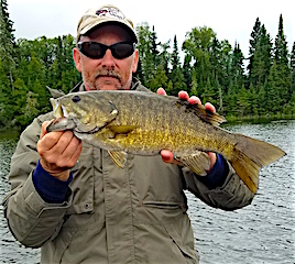 Scott Fishing with a Nice Trophy Smallmouth Bass