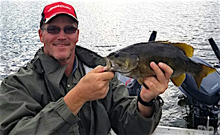 Another Trophy Smallmouth Bass Fishing by Jim