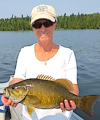Trophy Smallmouth Bass Fishing by Debra