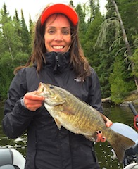 Trophy Smallmouth Bass Fishing by Jennie Heinl at Fireside Lodge