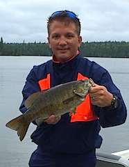 Trophy Smallmouth Bass Fishing at Fireside Lodge are Common