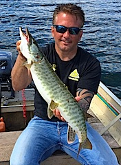 1st-ever Musky by Mike Heinl Fishing at Fireside Lodge