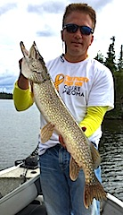 Super Northern Pike Fishing at Fireside Lodge Canada by Mike