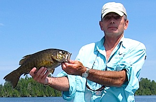 Trophy 19-inch Smallmouth Bass at Fireside Lodge Canada by Steven Johnson