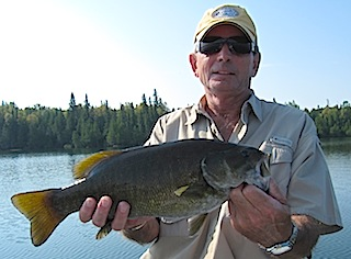 Trophy Smallmouth Bass Fishing at Fireside Lodge Canada By Steven Johnson